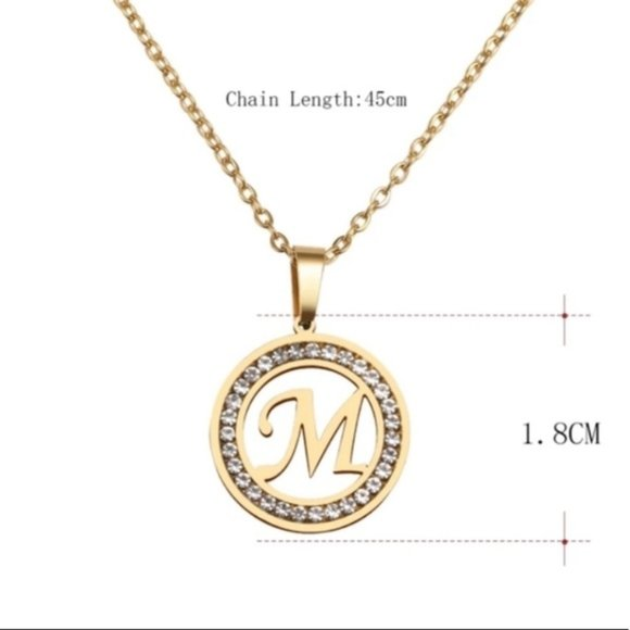 Gold Plated Stainless Steel various letters Necklaces